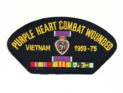Purple Heart Combat Wounded Patches